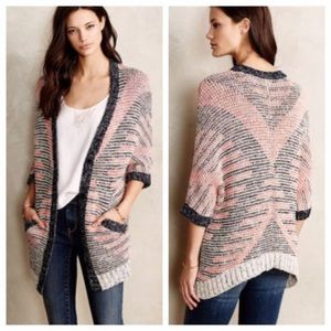 Moth Anthropologie Oversized Short Sleeve Cardigan